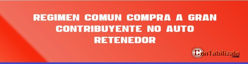 Régimen Común Compra a Gran Contribuyente (No Auto retenedor)