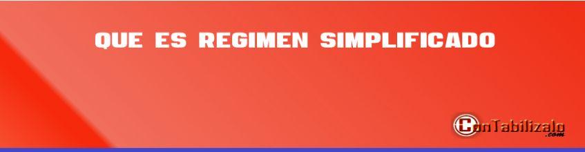 Que es regimen simplificado