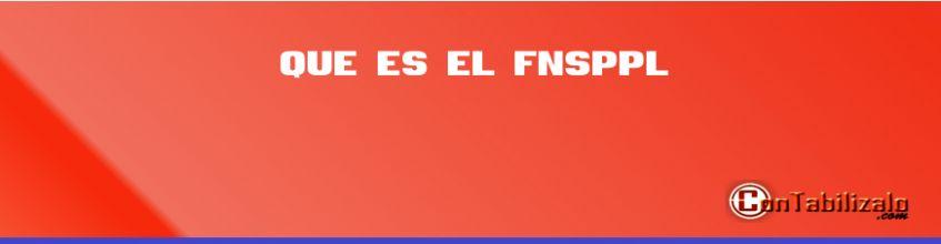Que es el FNSPPL
