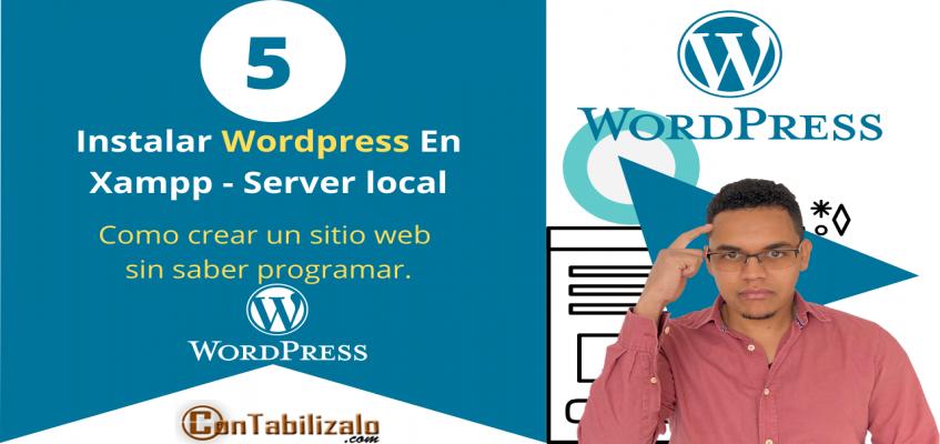 como instalar wordpress en servidor local