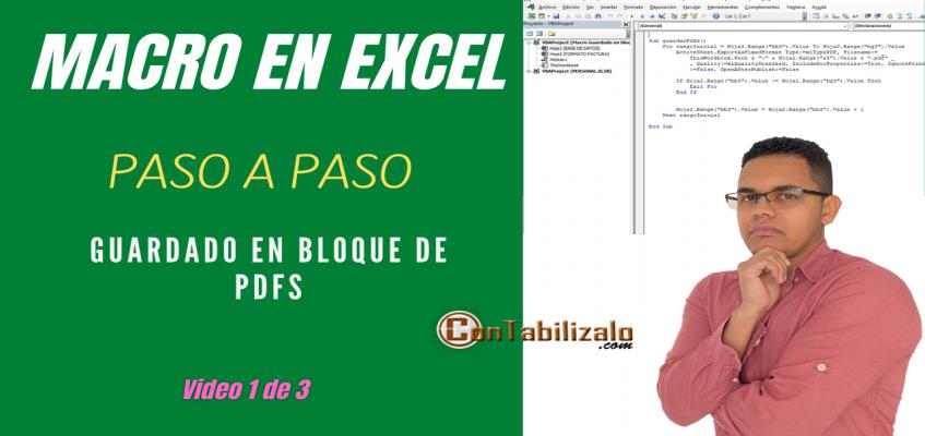 Como crear una macro paso a paso en Excel