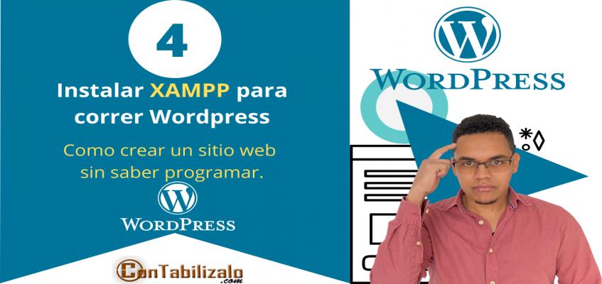 como instalar xampp para correr wordpress
