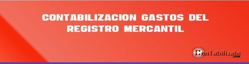 Contabilización Gastos del Registro Mercantil.