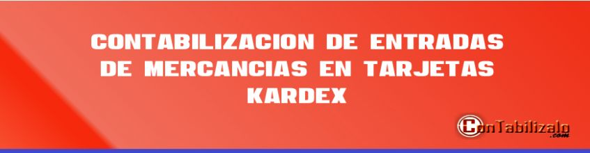 Contabilización de Entradas de Mercancías en Tarjetas Kardex.