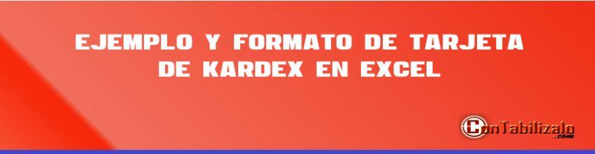 Ejemplo y Formato de Tarjeta de Kardex en Excel