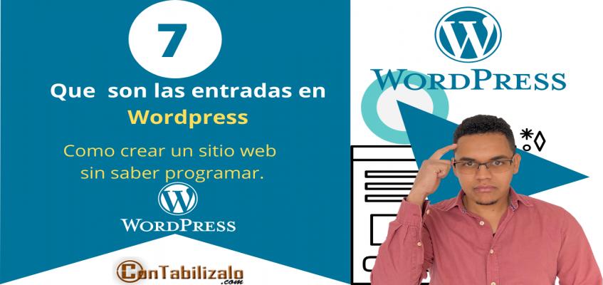 Como funcionan las entradas en Wordpress